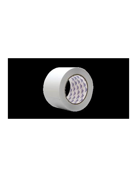 Ruban adhésif isolation PVC blanc cranté – rouleau 66 ml